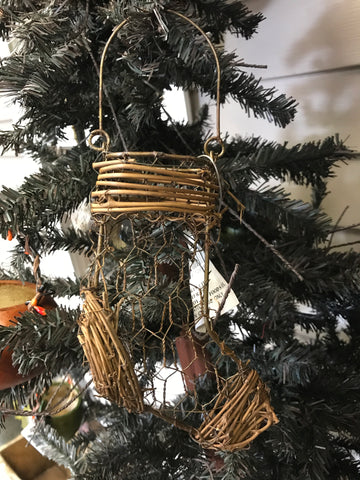 Wire & Vine Stocking Ornament