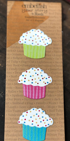 Embellish Your Story by Roeda Cupcake Magnets