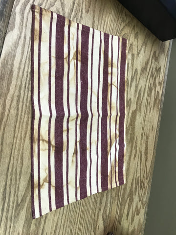 Distressed Red Stripe Placemat