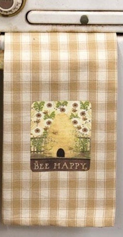 Bee Happy Dish Towel