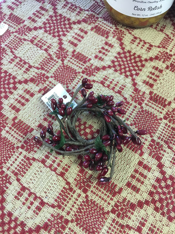 Pip Berry Candle Ring 1 1/2 Burgundy