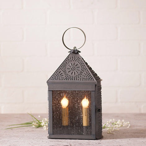 Harbor Lantern Blackened Tin