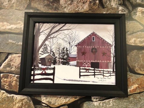 Billy Jacobs The Christmas Barn Framed Print