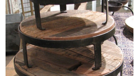 "Riser 10"" - Reclaimed Wood & Wrought Iron"