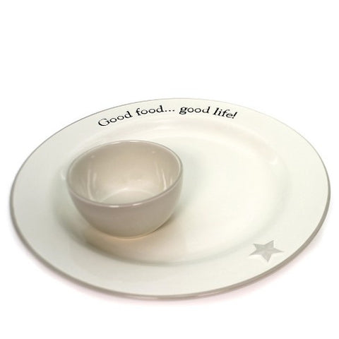 Good Food Good Life Ceramic Platter 2 pcs