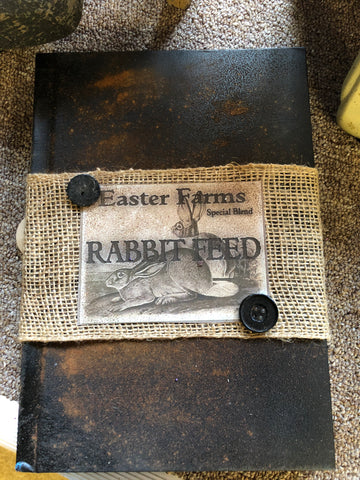 Book w/ Rabbit Feed Label