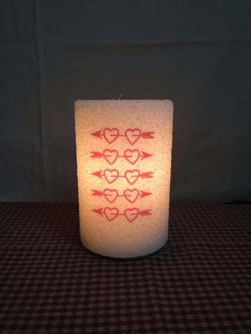 "6"" Candle Sleeve - Cupid Hearts"