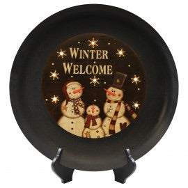 Winter Welcome Led Decorative Plate