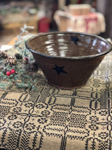 Pottery Medium Bowl With Stars
