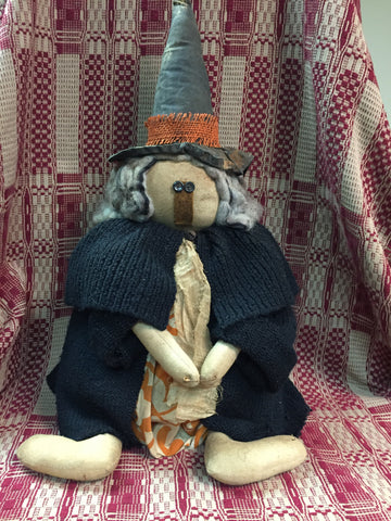 Primitive Sitting Handmade Witch