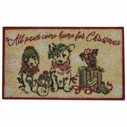 All Paws Come Home For Christmas Doormat