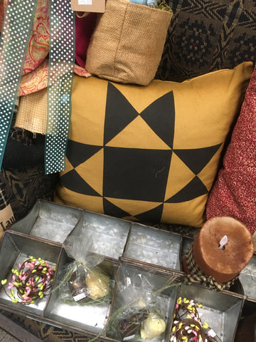 Mustard Square Pillow