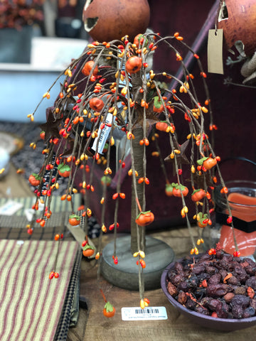 "11"" Willow Tree With Rusty Stars and Pumpkins"