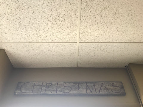 Large Hanging Wood Christmas Sign