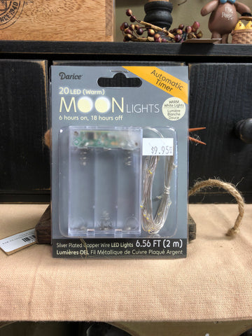 20 LED Moon Lights, Warm White