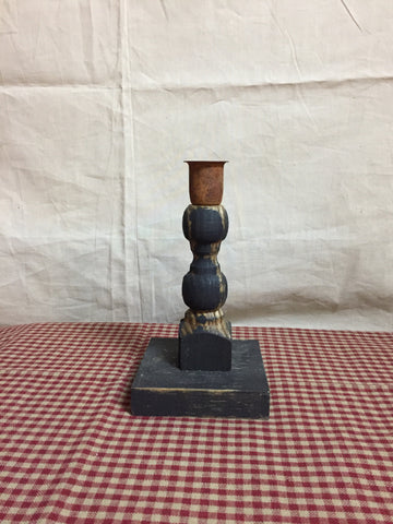 Wood Spindle Candle Holder