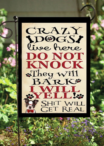 Crazy Dogs Garden Flag