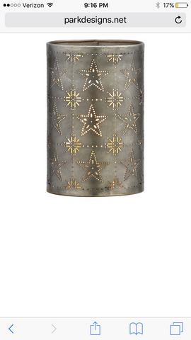 Punch Star Grid Candle Sleeve-Tin