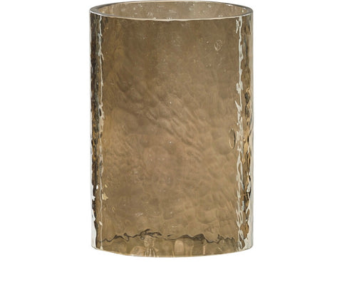 Hammered Glass Candle Sleeve