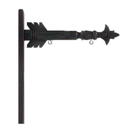 "17.5"" Black Wood Arrow Holder"