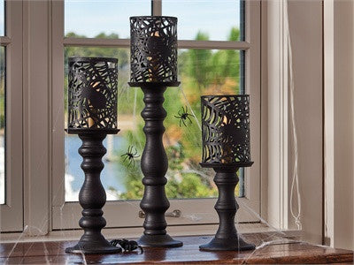Park Designs Candlestick Lamp Black