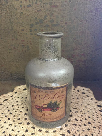 Holiday Trim Antique Jar - Small