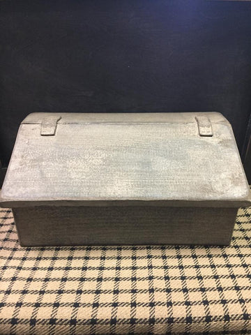 Wooden Desk Box - Tan & Black Distressed