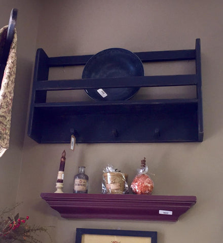 3 Peg Wall Shelf - Black