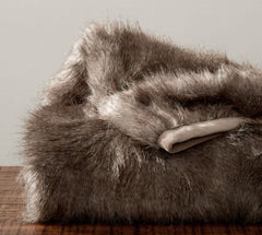 Pottery Barn Website Image of Feather Faux Fur Throw No Longer Avail at PB