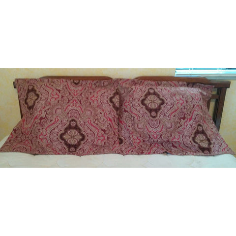 Pillow Shams Croft & Barrow Burgundy Red Design Set of 2