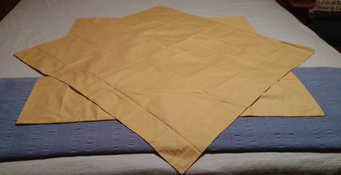 SOLD 2 Euro Shams The Company Store Yellow Gold Color - 1