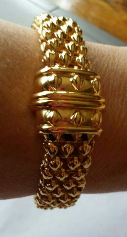 SOLD Bracelet Shiny Reversible Gold Metal
