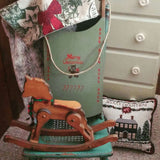 Cute Wood Sled Decor Wall Hanging Merry Christmas Vintage Styled Up