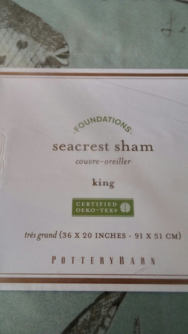 SOLD King Sham Pottery Barn Seacrest NIP NWT