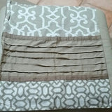 SOLD MOST ITEMS ARE 1 OFS Pillow Sham Natori Geometric Fretwork Standard Size