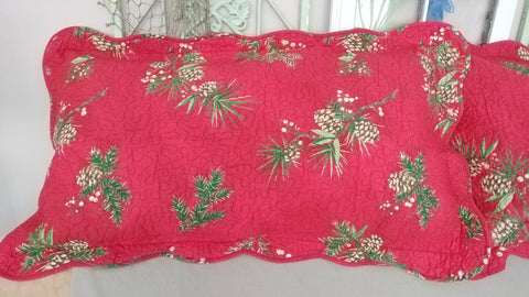 Plow & Hearth Peaceful Pine Cotton Quilted King Shams Two Avail Beautiful
