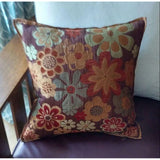 Throw Pillow Pier 1 Imports Multi Color Design Brown Microsuede Reverse