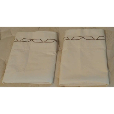 Pillowcases Sferra 1891 100% Egyptian Cotton King  Like New 2 avail