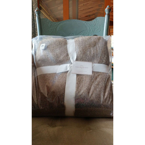 PB Feather Faux Fur Pottery Barn Throws NWT NIP   2 Available