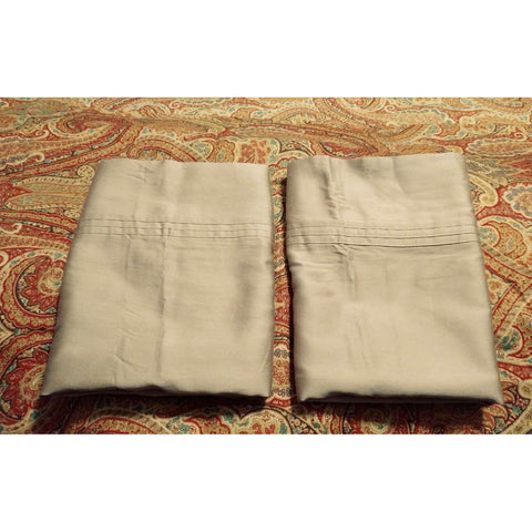 RL Ralph Lauren 100% Cotton Sateen King Pillow Cases Like New 2 Avail