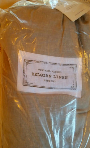SOLD Restoration Hardware Vintage Washed Belgian Linen Mist Sheet Set QUEEN NIP NWT,