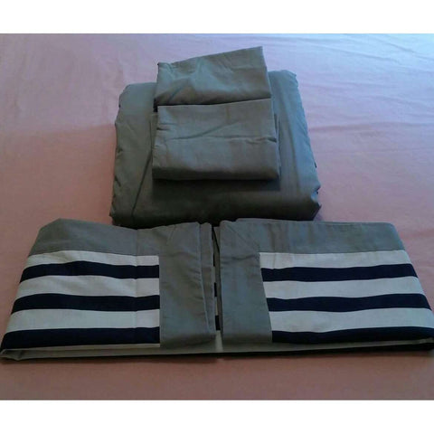 Duvet King Size Gray Room Essentials + 4 King Size Shams