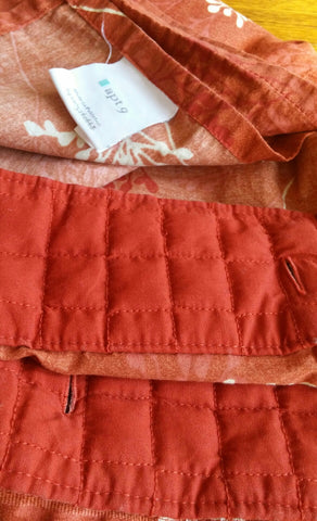 Curtains Ideas apt 9 shower curtain : SOLD Apt. 9 Shower Curtain Burnt #Orange #Quilted – Sherrie's ...