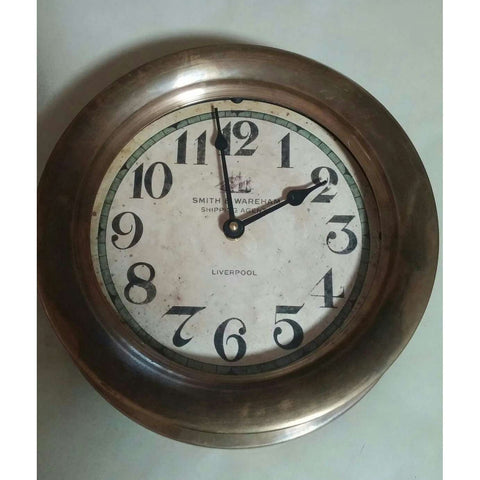 Clock Vintage Brass Timeworks Smith & Wareham