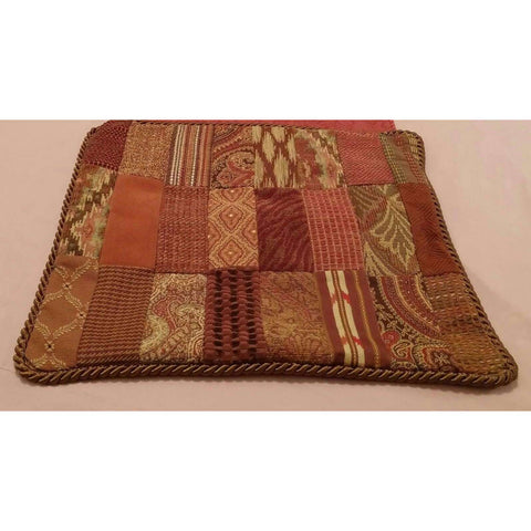 Throw Pillow Cover Patchwork Multi Tapestry Upholstery Suede 1 Avail
