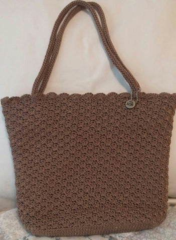 Sold The Sak Crochet Purse With Scalloped Edging Like New Sherries