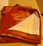 SOLD MOST ITEMS ARE 1 Of's: Valance Lined Rod Pocket Curtain Tommy Bahama Orange Cay