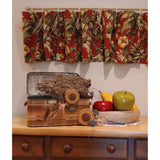Valances Tropical Lined Dark Red Background 3 Avail