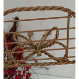Gold Luxe Braided Metal Shelves With Bow Tied Tassels Set of 2