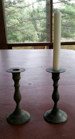 SOLD MOST ITEMS ARE 1 OFS 2 Vintage #Rustic #Candle Holder Sticks,